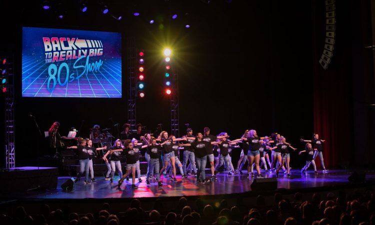 Choreographer Braden Lupfer and the Studio Vibe Dancers start the show off with an 80's medley (Photo provided by David Arthur Photography)