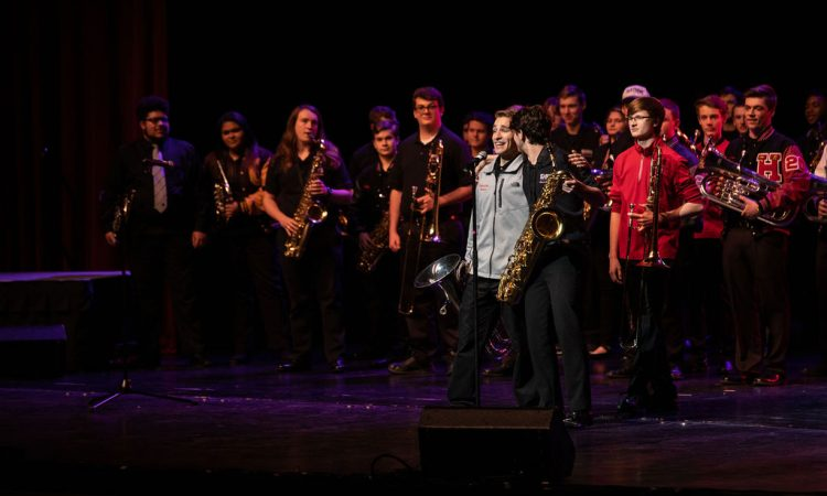 "The EVSC High School Honors Band represented their individual schools in a fun take on ""Gee Officer Krupke!"" (Photo provided by David Arthur Photography)"