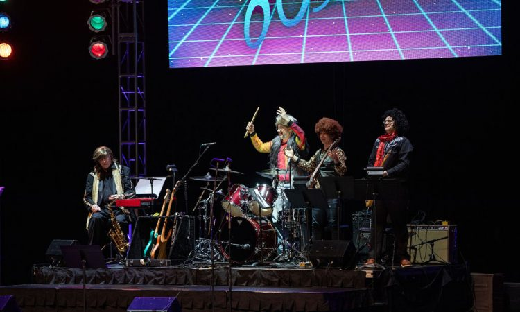 "The House ""Hair"" Band shows off their 80's gear (Photo provided by David Arthur Photography)"
